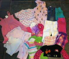 Baby Girl Sz 9-12 Months Outfits Spring Summer Clothes Lot Mix & Match Lot of 21 #TheChildrensPlaceCarterOldNavyJumpingBeans #Everyday