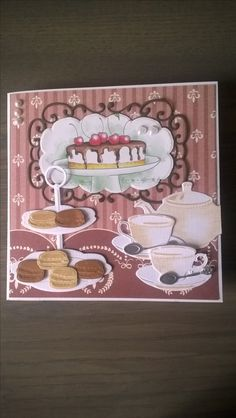 Coffee Cards, Shaped Cards, Marianne Design, Scrapbook Cards, Gingerbread Cookies, Macarons, Magnolia, Tea Time, Cardmaking