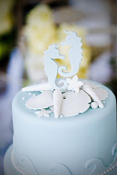 bride and groom topper is mainstream ^^ check out this two cute little seahorses Chuah Wedding Notebook Nautical Wedding Cakes, Seaside Wedding, Destination Wedding, Beach Weddings, Wedding Planning, Our Wedding Day, Dream Wedding, Wedding Stuff, Wedding Planner Notebook