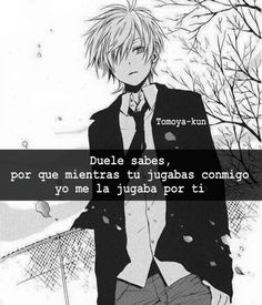 Read from the story Frases anime. Anime Dad, Sad Anime, Anime Love, Kawaii Anime, Im Sad, Sad Love, Love Life Quotes, Sad Quotes, I Hate My Life