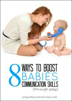 Easy ways to boost communication skills through play by Crayon Box Chronicles. #babydevelopment