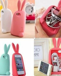 Cheap Lovely Rabbit Storage Silicone Case For Iphone For Big Sale!It is a Lovely and useful iphone case. You will love this Lovely Rabbit Storage Silicone Case. Iphone Cases For Girls, Funny Iphone Cases, Cute Phone Cases, Coque Iphone 4, Iphone 4s, Iphone Printer, Apple Iphone, Iphone Charger, 6 Case