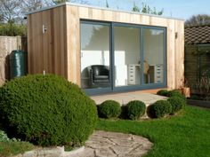 Sanctum Garden Studios not only look beautiful but are incredible value for money. Using the highest quality materials and the most modern methods of building, our garden rooms are delivered and installed anywhere in the UK. Contemporary Garden Rooms, Contemporary Office, Garden Sheds Uk, Modern Shed, Studios, Garden Buildings, Garden Office, Shed Plans, Office Interiors