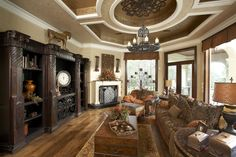Termeer Custom Home Builder. Beautiful living room