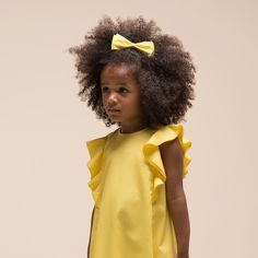 The daffodils are out and spring is on its way - celebrate the arrival of spring with this sweet flutter sleeve daffodil dress and matching hairclip.  #springtime #yellow #popcolour