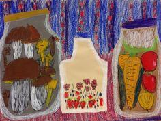Kuvis ja askartelu - www.opeope.fi Art School, School Days, Teaching Art, Fall Crafts, Art For Kids, Art Projects, Apron, Kindergarten, Autumn