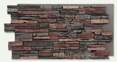 Norwich Colorado Stacked Stone Fresco Panel, I think this is my favorite so far, paired with rough cedar and white-ish  pillars. However, is polyurethane, sounds like plastic