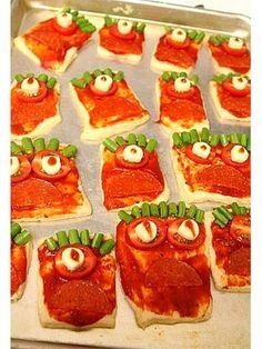 Monster Pizza for #Halloween!