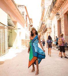 Marissa Row in her Havana style with DVF! Havana, Diane Von Furstenberg, The Row, Wrap Dress, Printed, Inspired, Clothing, Inspiration, Shopping