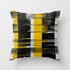 Shop Georgiana Paraschiv's store featuring unique designs on various products across art prints, tech accessories, apparels, and home decor goods. Colourful Cushions, Scatter Cushions, Couch Pillows, Down Pillows, Black N Yellow, Black And White, Apt Ideas, Pillow Fabric, Brand Board