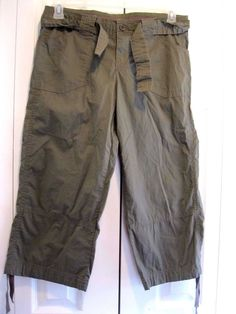 Women's Capri's Ouray Sportswear Size Small Olive Green RN # 93727 #Ouray #CapriCropped