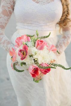 open tulip and amaranthus bouquet // photo by ChelseyBoatwright.com // flowers by MillieVs.com