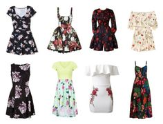 """""""Floral Dresses"""" by dreamerz-dream-on ❤ liked on Polyvore featuring Hollister Co., Christian Lacroix, Fendi, WithChic and Valentino"""