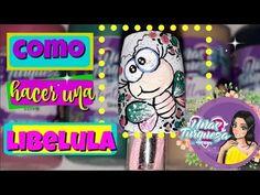 Decoración de uñas libélula /Paso a Paso/Decoracion como hacer una libelula - YouTube Neon Signs, Youtube, Glue On Nails, Nails, Step By Step, How To Make, Youtubers, Youtube Movies