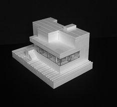 Lego Micro version of Mies van der Rohe's Villa Tugendhat.… | Flickr