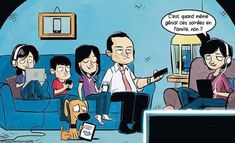40 Hilarious Cartoons That Perfectly Capture Your Smartphone Addiction Technology Addiction, Smartphone, Powerful Images, Quality Time, Image Shows, Satire, Our Life, Thought Provoking, Flyers