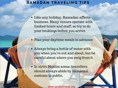 Ramadan travel tips. #vacation #travel #travelers #dubai #mydubai #gccnews #gccbusinesscouncil #gulf #middleeast  #oman #abudhabi #mena #qatar #bahrain #kuwait #holymonth #blessings #saudiArabia #muslims #prayers #fasting  #eid #ramadanTips #tips #travelTips #bookings