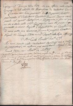 BRIGANTAGGIO-VOLONTARI CACCIATORI DI LUCANIA-TENETE CARLO PAULET-12 GENNAIO 1800