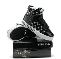 533313579e Kids Supra Shoes In Black White Plaid Skate Shoes, Kid Shoes, Me Too Shoes