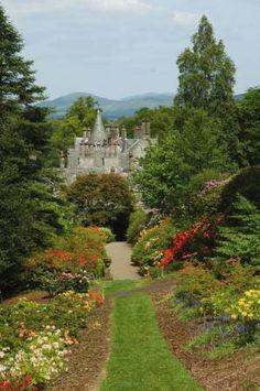 Dawyck house at Dawyck botanical gardens in the Scottish Borders.