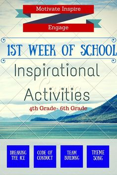 This is truly a unique collection of activities and resources that are designed to be used in either a 4th, 5th, or 6th grade classroom during the first day and throughout the first week of school. If a teacher can inspire students in those first few mome