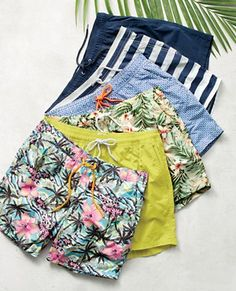 Great Inspired by old-school trunks in classic floral, scenic and geometric prints, ou… Inspired by old-school trunks in classic floral, scenic and geometric prints, our J.Crew men's quick-drying nylon swimsuits have an updated modern fit. Lesbian Outfits, Fashion Still Life, Men's Swimsuits, Clothing Photography, J Crew Men, Crop Top Outfits, Mens Fashion, Fashion Outfits, Geometric Prints