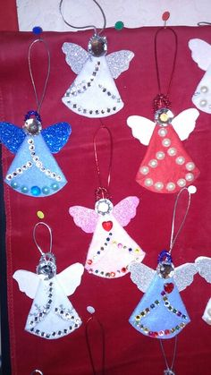 Angel tree ornaments made for fair.