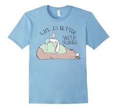 Cute Animal Shirts for Women Life is Better With Friends on Amazon Prime