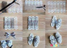 Jüt kumaşı ile dekoratif kelebek nasıl yapılır - Hobikafa.com