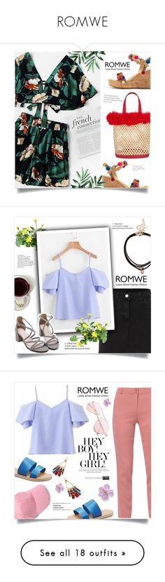 """""""ROMWE"""" by ainzme ❤ liked on Polyvore featuring Mabu, Nannacay, WtR London, xO Design, Lulu Guinness, Bobbi Brown Cosmetics, Hat Attack, Sergio Rossi, Christian Dior and Anja"""