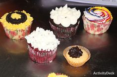 Cupcakes made by students during class