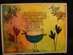 Approx 4x6 Hand made greeting card with a by RockledgeStudios