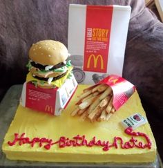 Big Mac and Fries! By FaughndOfCakes on CakeCentral.com