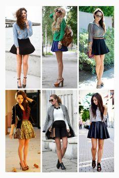 6 maneiras de usar saia patinadora