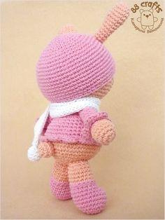Цвет Симпатичные Amigurumi Банни Кролик Красочный Подготовка-Amigurumi Бесплатный шаблон