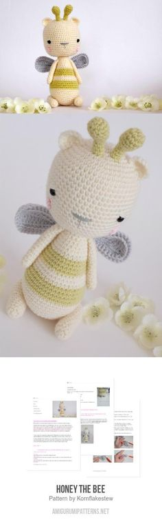 Honey the bee amigurumi pattern