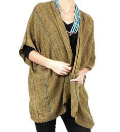 Wild Silk Wrap Vest, Grass