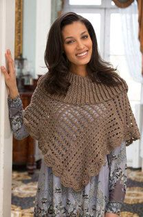 Toasty Poncho in Red Heart Miami - LW4348EN - Downloadable PDF
