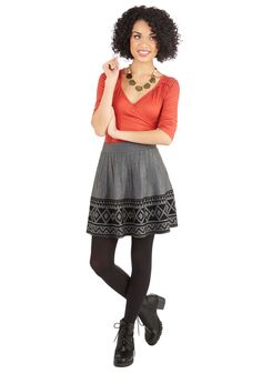You've Got Tile Skirt in Grey