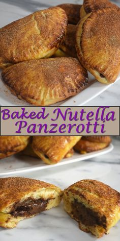 Baked Nutella Panzerotti (from scratch) - Delicious, soft, homemade dough filled with nutella, amazing served warm or cold.