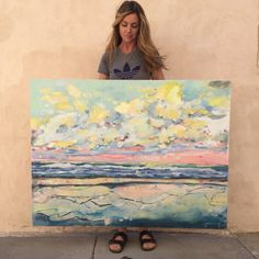Joanna Posey Art. Abstract seascape.