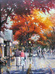 Autumn on Mackinac Island by Thomas Kinkade