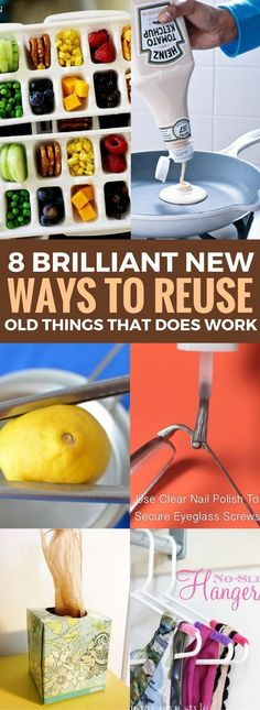 The Most Useful Ways To Use Old Things In New Ways - Looking for ways to reuse ordinary things? Then these DIY Ideas will be perfect for you. You won't believe how AMAZING these home hacks of daily items can be. Reuse, Upcycle, Fitness And Beauty Tips, Cheap Diy Home Decor, Organization Hacks, Organizing Ideas, Clear Nail Polish, Home Hacks, Diy Ideas