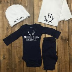 Antler Baby Boy Coming Home Outfit Boys by LineLiamBoutique