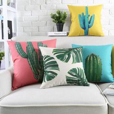 Cheap cushion cover, Buy Quality pineapple pillow cover directly from China leaf cushion cover Suppliers: Pineapple Pillow Covers Decorative Palm Leaf Cushion Covers Cactus Pillow Cases Green cushion Cover Green Pillow Cover Green Cushion Covers, Couch Cushions, Green Pillows, Textiles, Decorative Cushions, Of Wallpaper, Home Textile, Decorating Your Home, Instagram
