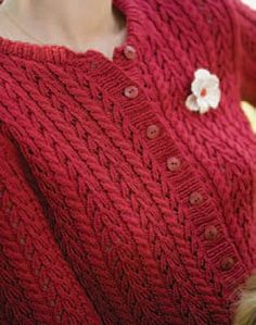 Learn how to make this soft cardigan knitted with lace and cables in this free ebook that includes 7 free cardigan knitting patterns.