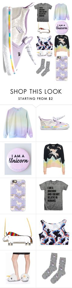 """""""Unicorn !!!!!!!!!!!! <3 ***"""" by nononononame ❤ liked on Polyvore featuring Vans, Wildfox, Casetify, JFR and Topshop"""