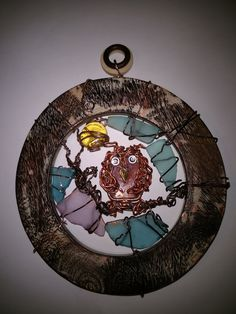 Owl Sun Catcher by LaurelcreationsArt on Etsy
