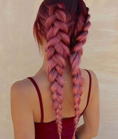 21 pastel hair color ideas for 2018 braids dyed hair, hair s Cute Hair Colors, Hair Color Purple, Hair Dye Colors, Cool Hair Color, Amazing Hair Color, Pastel Hair Colour, Colored Hair Styles, Bright Coloured Hair, Pastel Ombre Hair