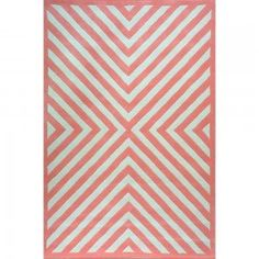Coral Centra Wool Rug